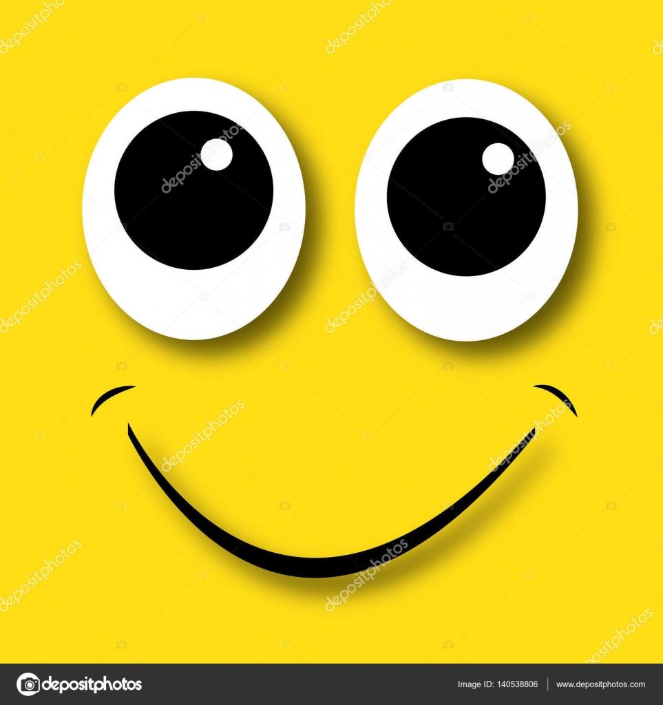 幸せの黄色い顔 — ストックベク...