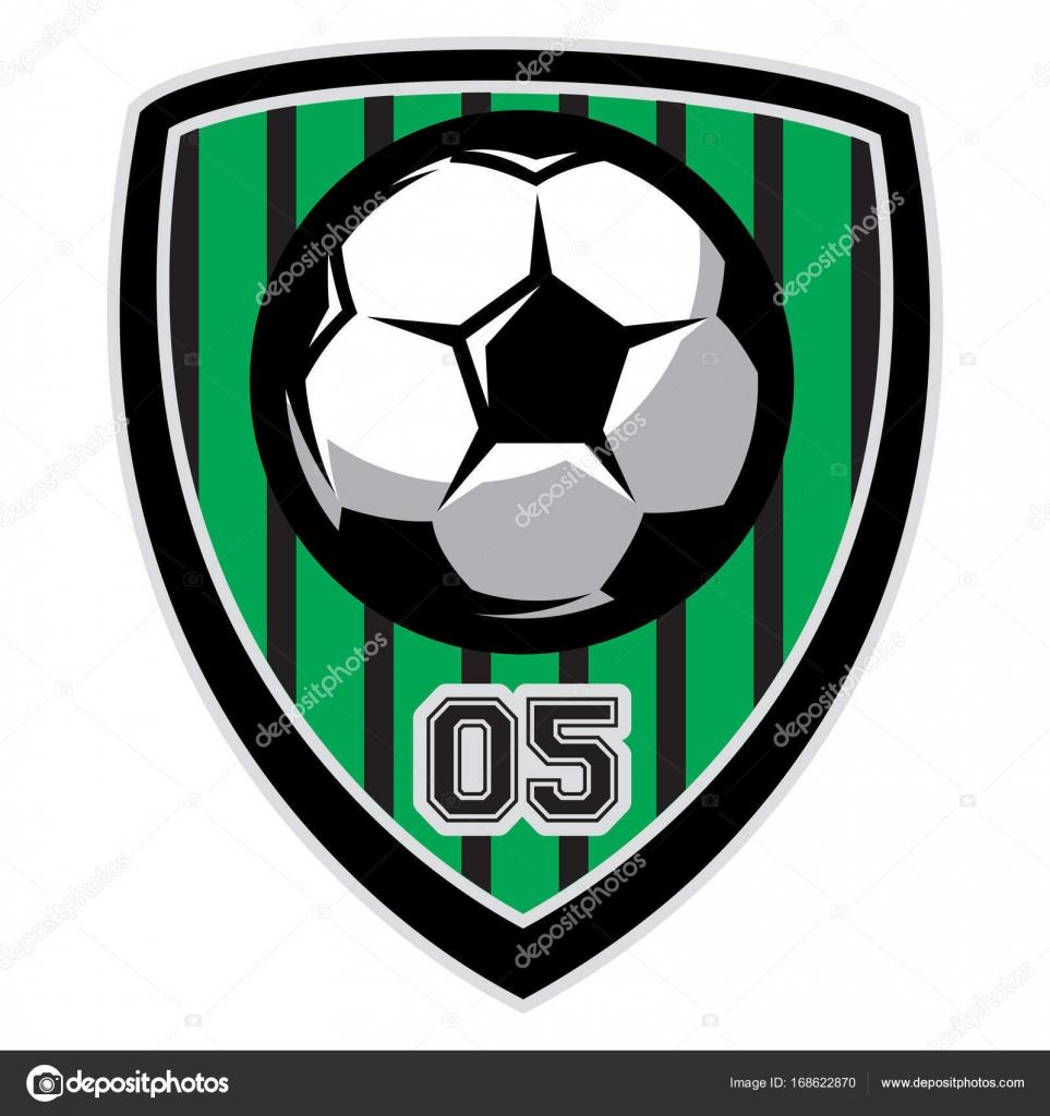 Plantilla de Vector logo con balón de fútbol — Vector de stock ... 6557297ce85b6