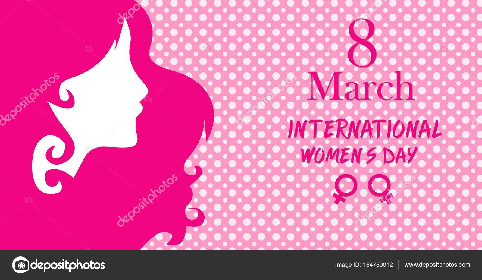 Happy women day greeting card march international women day greeting happy womens day greeting card 8 march international women day greeting card women face on pink background vector by sajikinanwaryahoo m4hsunfo