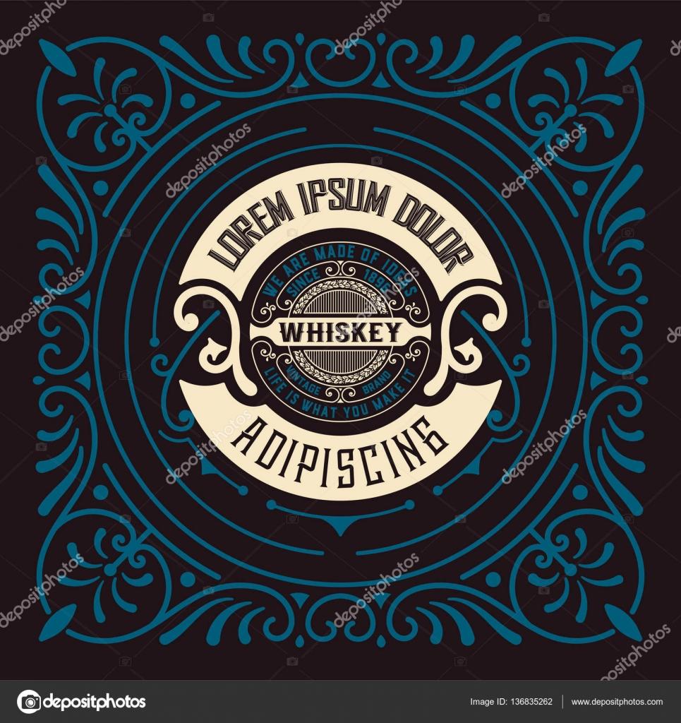 Whisky-Karte mit alten Rahmen — Stockvektor © roverto007 #136835262