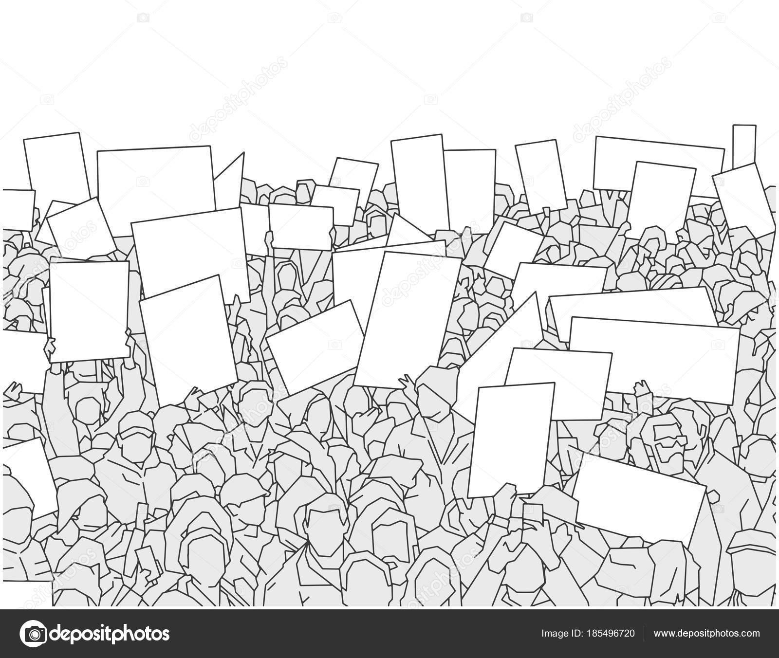 Personas Votando En Las Elecciones Para Colorear Ilustración Gran