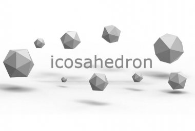 3d illustration of icosahedron
