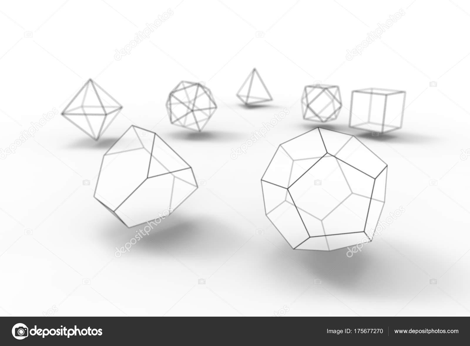 Ilustración Sólidos Platónicos Aislado Blanco — Fotos de Stock ...