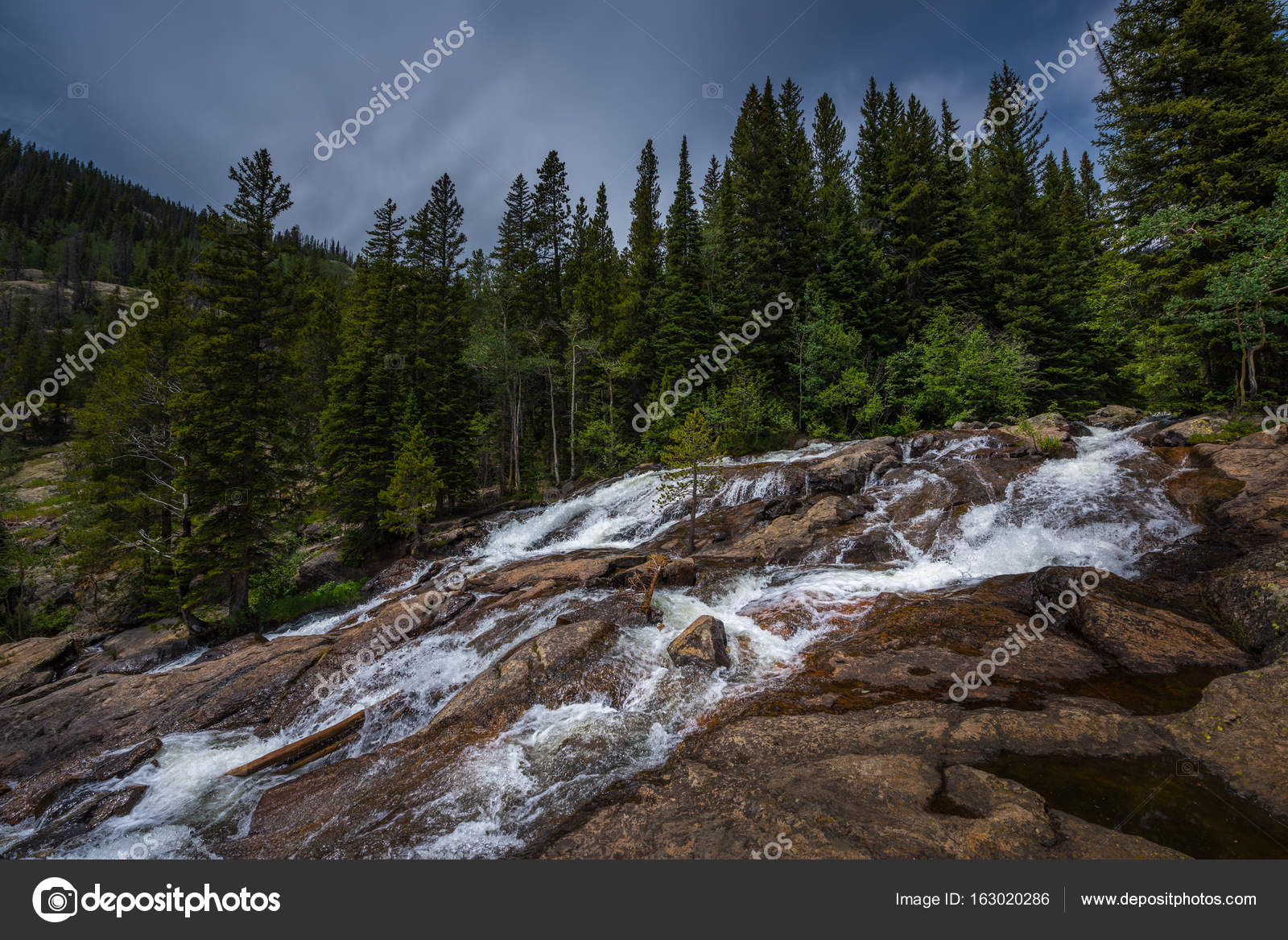 jasper creek falls colorado indian peaks wilderness stock photo