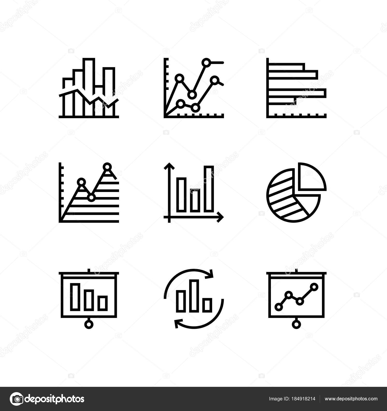 Data analysis chart diagram vector simple icons web mobile design data analysis chart diagram vector simple icons web mobile design stock vector ccuart Images