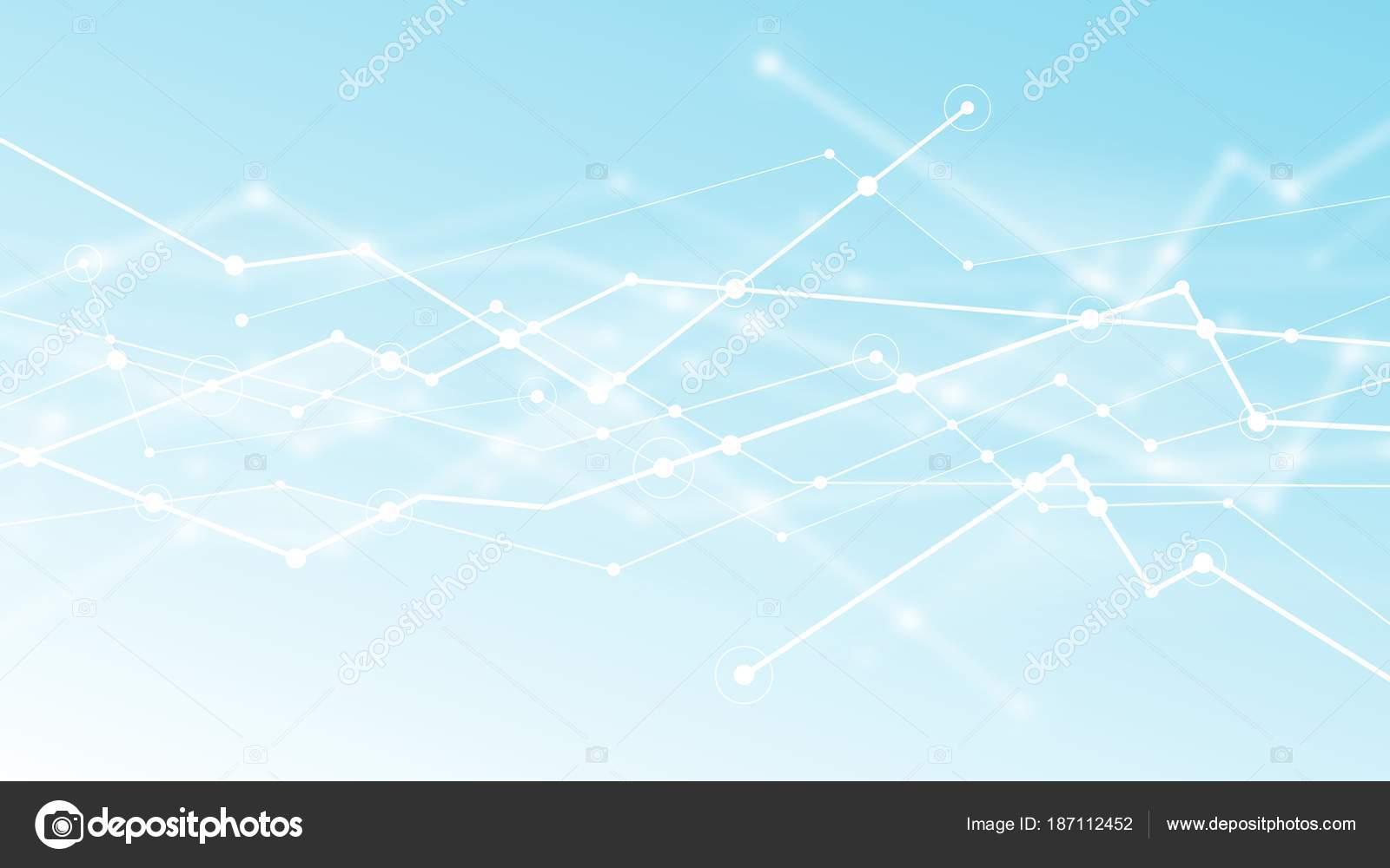 abstract futuristic blockchain light blue background vector design digital network stock photo