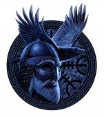 Fotografie Severský bůh Odin s Vrána