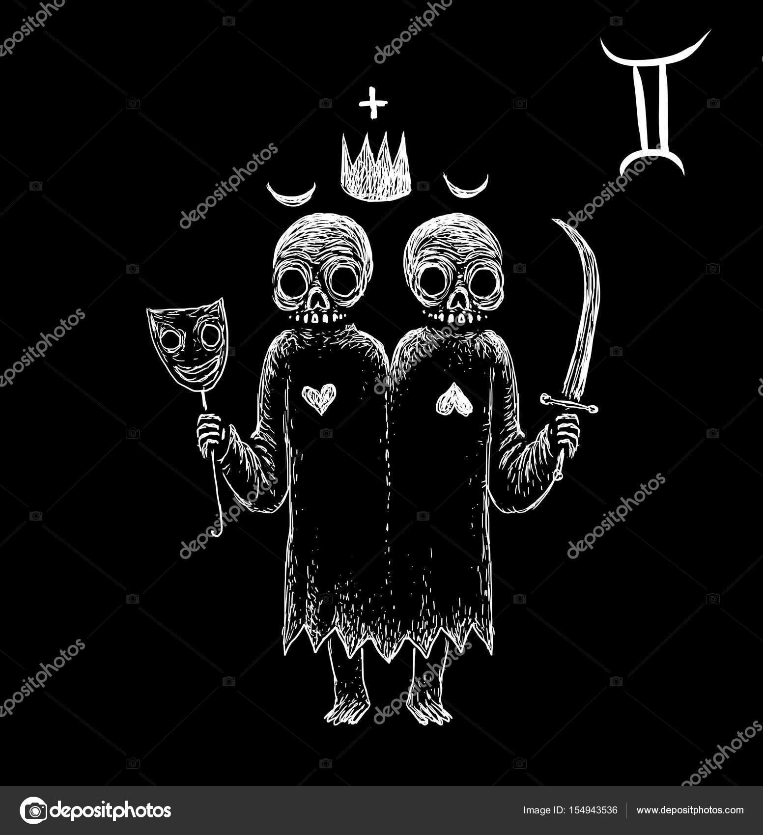 ジェミニ黄道帯の記号 ストック写真 barandash 154943536