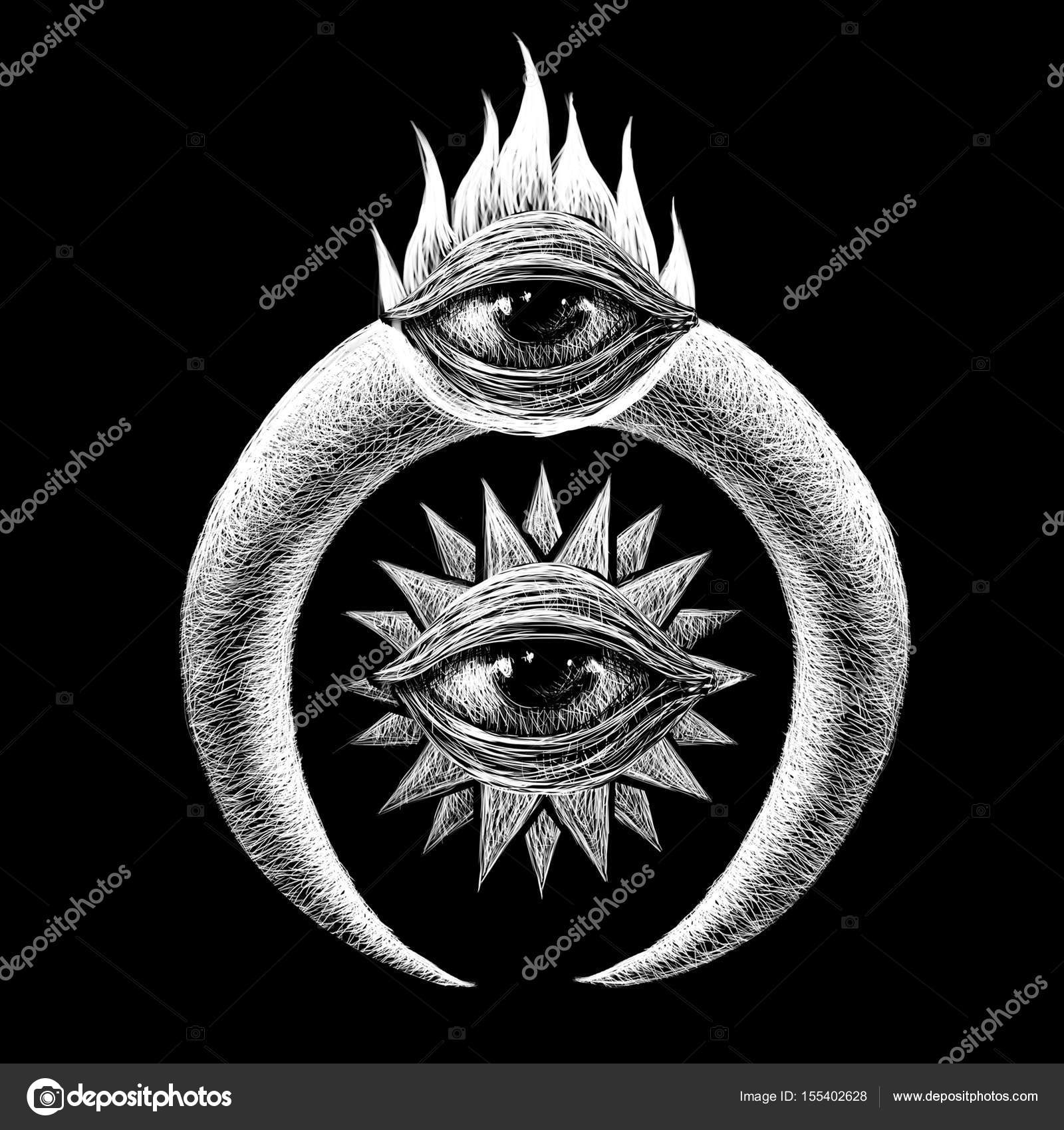 Mistik Semboller Seti Stok Foto Barandash 155402628