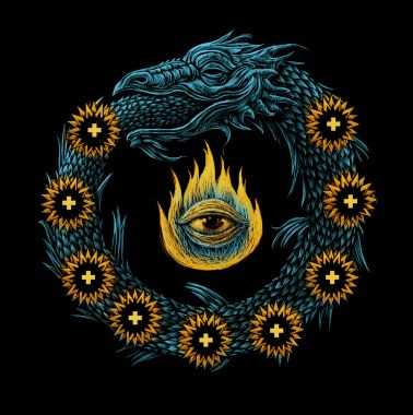 Ouroboros. Ancient mystical sign