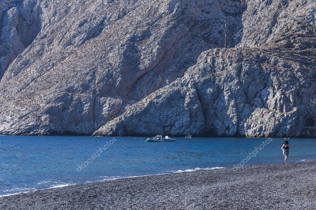 Santorin Strand von Kamari