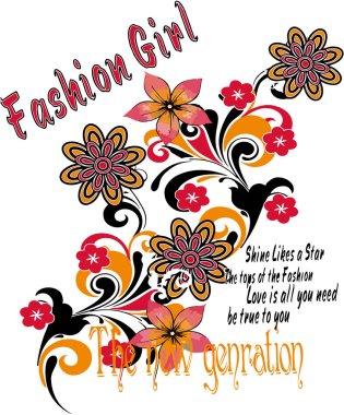 Pretty fashion girlish illustration.
