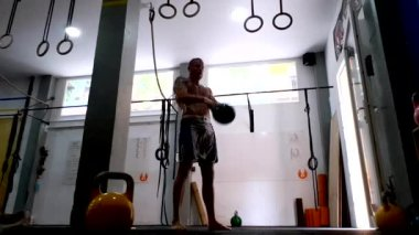 Russian Kettlebell Swings and Burpees