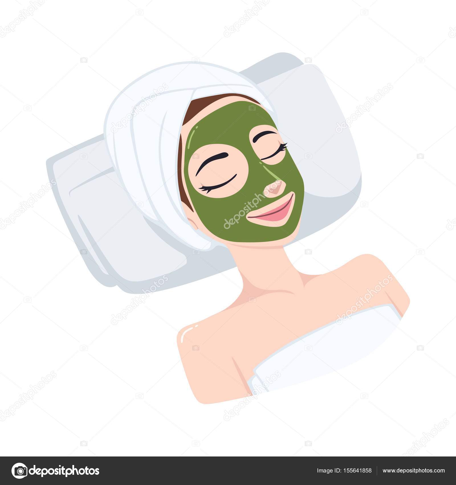 Green tea natural mask on beautiful woman face illustration green tea natural mask on beautiful woman face illustration vector design template vector by dianpurdi41 pronofoot35fo Gallery