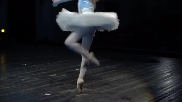 Attractive white ballerina show dance ballet close up train flexibility body 4K.