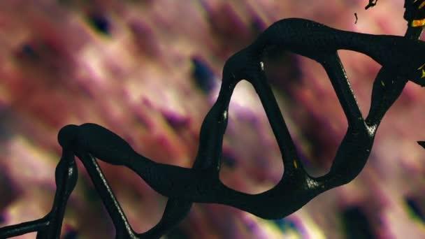 Spirála DNA v tmavě hnědé barvě