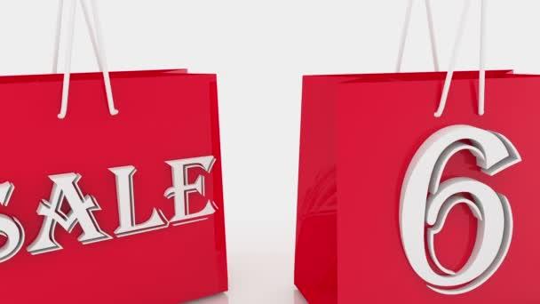 Nákupní tašky s nápisem 60 procent