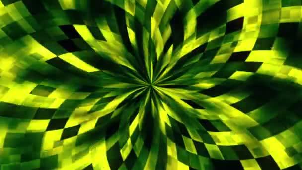 Abstraktní květina v zelené a oranžové