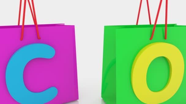Nákupní tašky v různých barvách