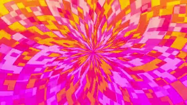 Abstraktní květina v růžové a žluté
