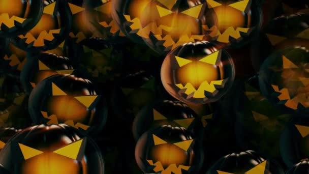 Halloween dýně hlav na černém pozadí
