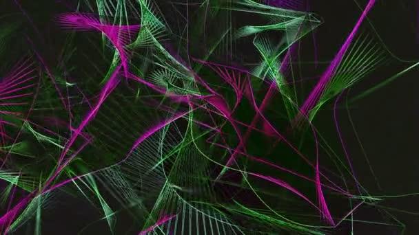 Abstraktní vlny v barvách fialové a zelené