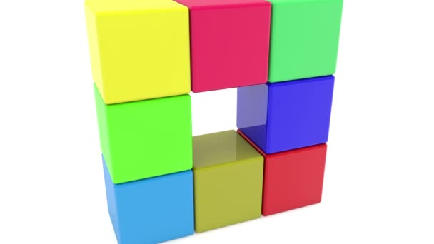 Hračka kostky v různých barvách