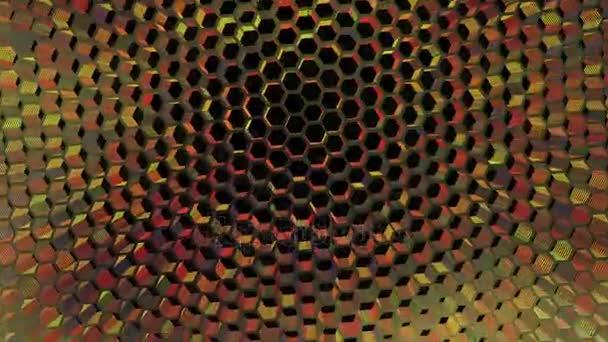 Vibrační, rotační multi barevné pozadí