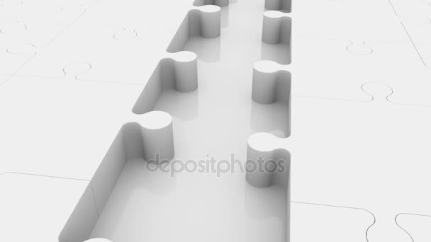 Incomplete puzzle concept with empty rows in blue and white colors