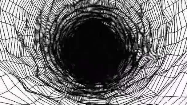 Pozadí abstraktního tmavého tunelu s černými čárami