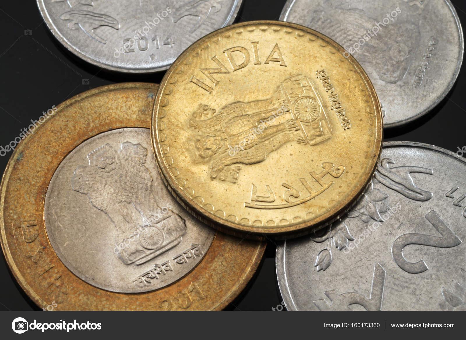 Indische Münzen Hautnah Stockfoto Vitoriaholdingsllc At Gmailcom