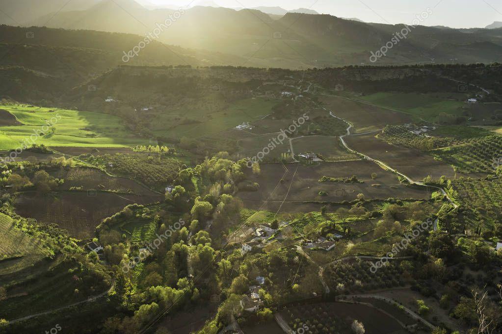 Agricultural landscape in Spain