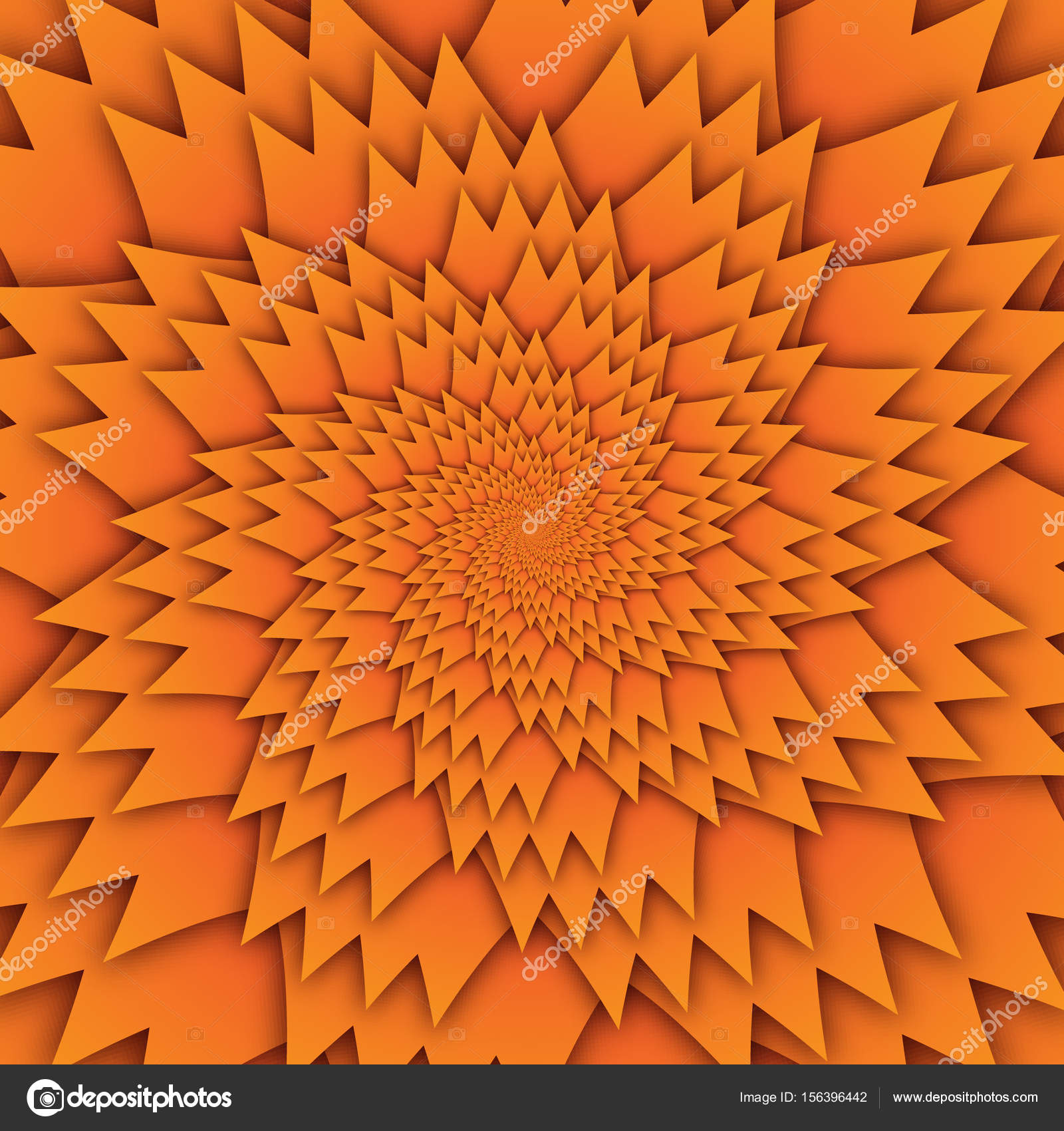 abstract star mandala decorative pattern orange background square