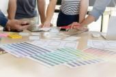 Fotografie Designer-Zeichnung Web Template Layout Entwicklung reagieren Kleie