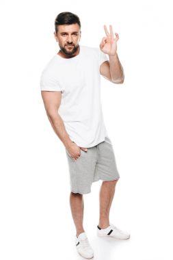 Man gesturing ok sign
