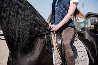 woman sitting on horseback