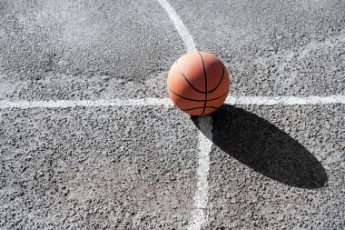 basketball ball on court