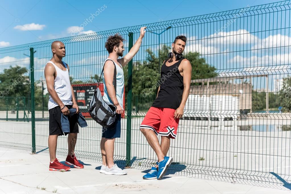 multiethic basketball players