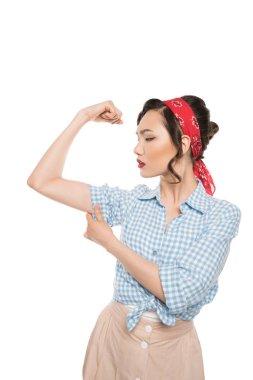 Strong pin up woman