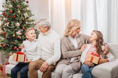 family on christmas