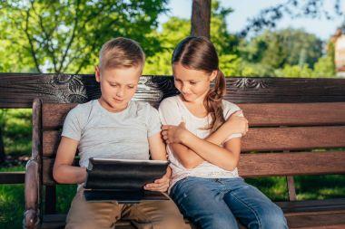 Kids with digital tablet