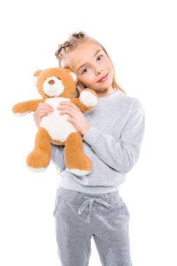 kid with teddy bear