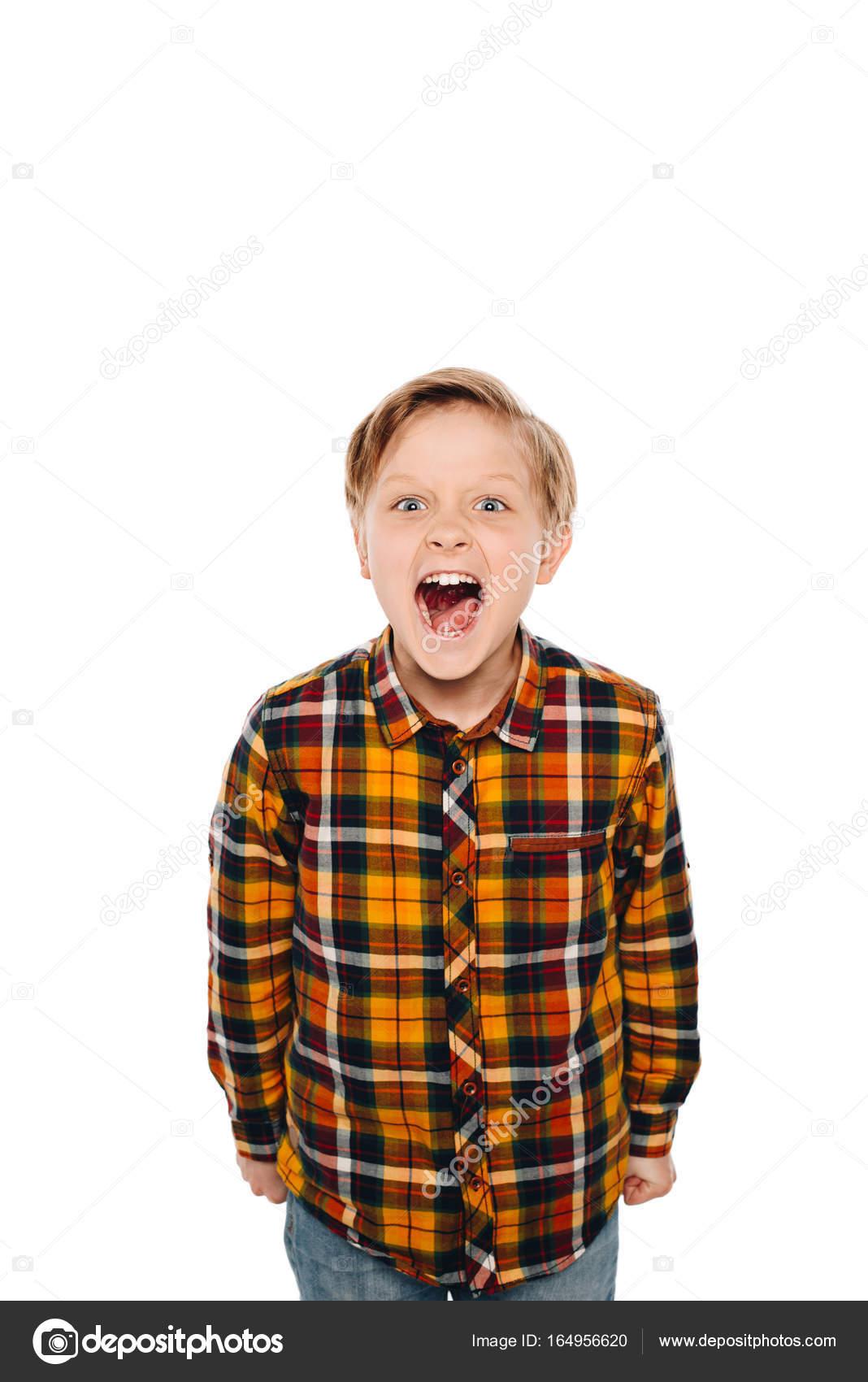 screaming boy stock photo igorvetushko 164956620