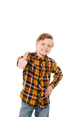 boy showing thumb up