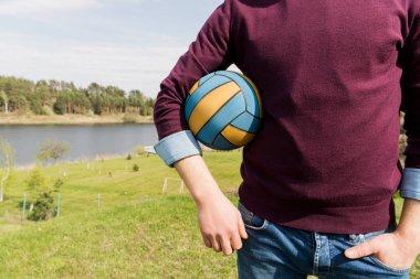 man holding ball