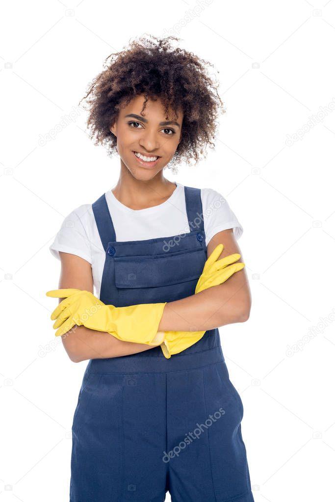 African american female cleaner