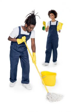 professional african american cleaners