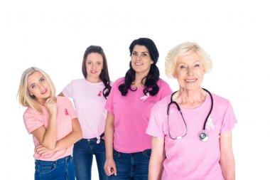 women in pink t-shirts
