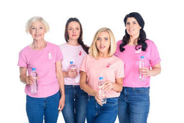 Women with bottles of water