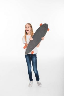 Female child with skateboard